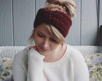 The Clara    Hand Crocheted Ear Warmer Head Band