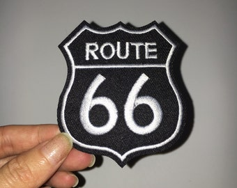 66 route embroidered patch embroidery patch decorate iron on patch sew on patch