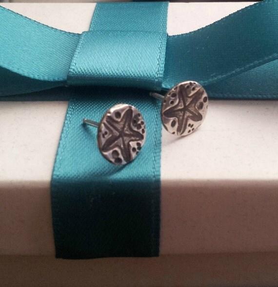 Sterling Silver Starfish Stud Earrings, Silver Starfish Stud Earrings, Ocean earrings, Nautical Jewelry, Beach earrings, Nautical earrings