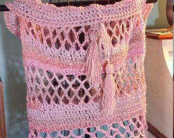 Crocheted poncho size large