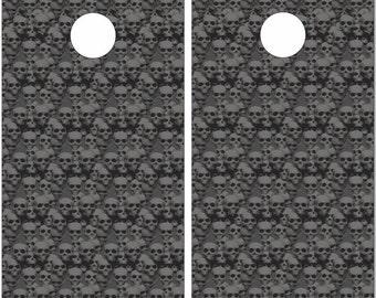 Pile Of Skulls LAMINATED Cornhole Wrap Bag Toss Decal Baggo Skin Sticker Wraps