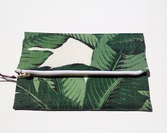 "Coco foldover clutch purse. 25cm x 27cm (10"" x 10 1/2"")"
