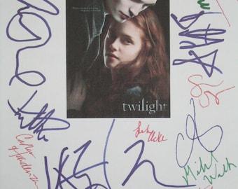 Twilight Signed Movie Film Script Screenplay X20 Kristen Stewart Robert Pattinson Taylor Lautner Ashley Greens Jackson Rathbone Meyer autos