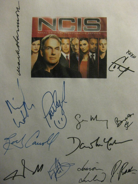 NCIS Signed TV Legend Script Screenplay X12 Autograph Michael Weatherly Mark Harmon Pauley Perrette Cote de Pablo Chris O'Donnell LL Cool J