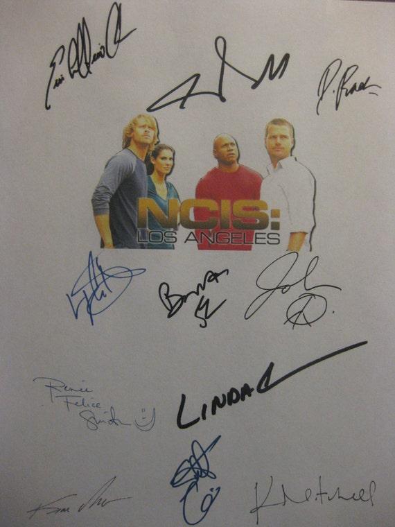 ncis Los Angeles LA Signed TV Script Screenplay X11 Autograph Chris O'Donnell Daniela Ruah Linda Hunt LL Cool J Eric Christian Olsen Corbett