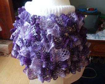 Girls knit ruffled skirt