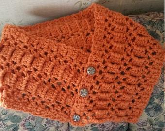 Crocheted Neck Warmer Orange