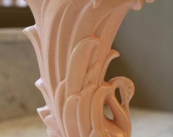 Vintage McCoy Swan Vase