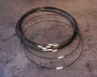 """10 metal necklaces black color 44.5 cm - 17.52 inch or 1' 517/32"""""""