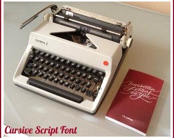 Olympia SM Series Cursive Script Manual Portable Typewriter
