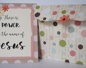 Handmade Card for Encouragement - There is Power in the name of Jesus
