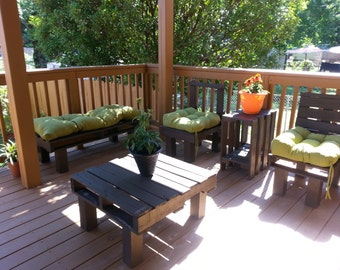 Reclaimed Wood Patio Set