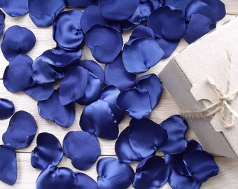 blue petals,Wedding Decor,blue petals petals,Artificial Petals Handmade,royal blue petals,Table Scatter,Fabric Petals,Party Supplies