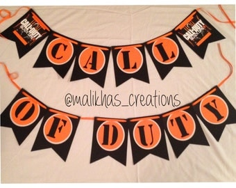 Call of Duty / Black Ops Birthday Banner