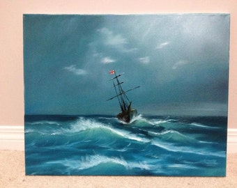 16x20, Ship's Call, Oil Painting