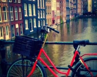 Red Bike, Grey Skies, Amsterdam
