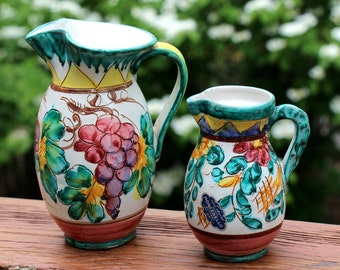 Hand Painted Italian Pitchers