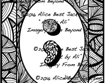 Semicolon (Tangled) ~ Art by Ali