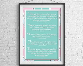Art Deco Inspirational Quotes Poster