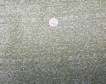 5 yards vintage green drapery or upholstery fabric
