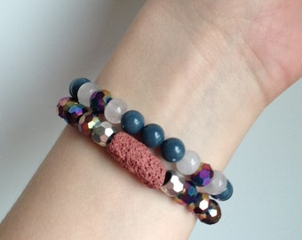 Natural Stone Bracelets – Double Stack