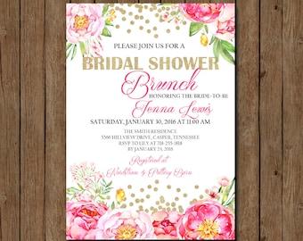 Bridal Shower Invitation, Bridal Shower Invite, Brunch Invitation, Bridal Shower Brunch, Floral Bridal Shower, Bridal Shower, Bride To Be