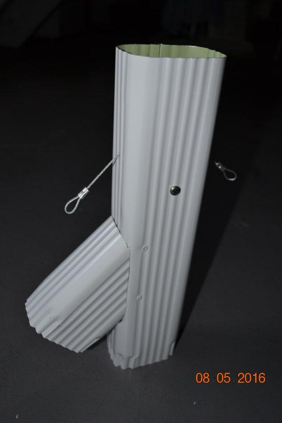 Rain Barrel Aluminum Diverter 2x3 White