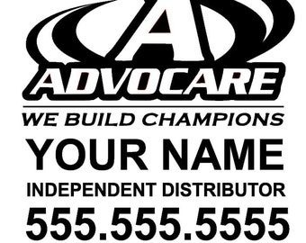 Advocare Distributor Personalized & Customized Business Car Decal Sticker