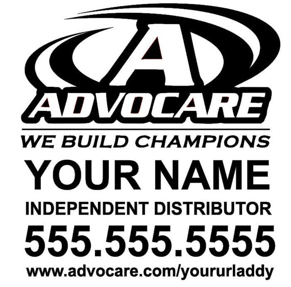 Advocare Distributor Personalized Customized Business Car - Advocare car decal stickers