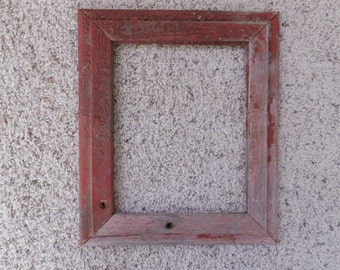 8x10 Distressed Red Barnwood frame (#5314)