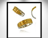 Atlantis Ring Silver and Gold _ Bague Atlante Argent et Or