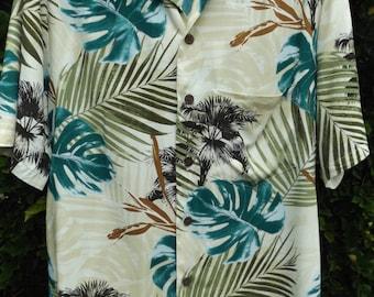 Vintage Men's Aloha Shirt by Hawaiian Reserve Collection 100% Rayon Size Small