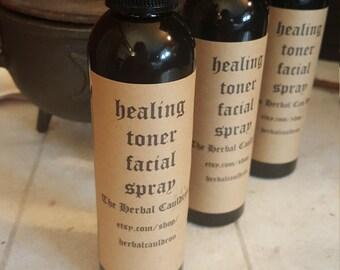 Healing toner facial spray