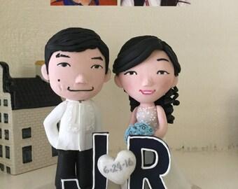 Wedding cake topper handmade