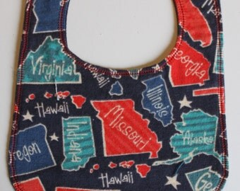 Bib - Flannel States