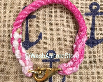 Custom Reclaimed Rope Collar with splicing on ends only- Made to Order