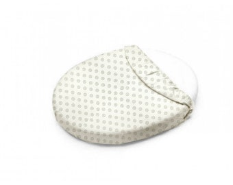 Gray Chelsea Oval Crib Sheet