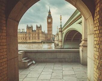Big Ben Photography - London Photograph - Big Ben Bridge - Fine Art Photography - Big Ben Decor - London Decor - London Photos -