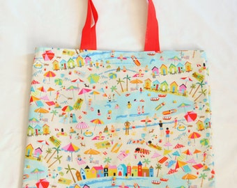 Beach Print Tote Bag