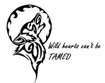 Wolf Decal; Wild hearts can't be tamed; Wild; Wolf; Decal; Vinyl; Car Decal
