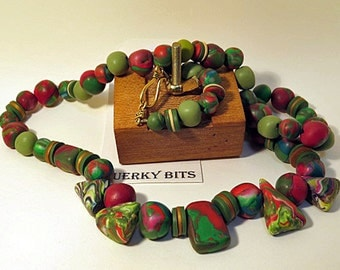 Red and Green beads