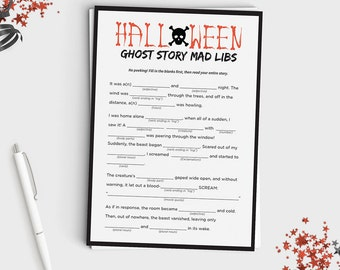 fun halloween mad lib game create your own ghost story halloween game for teens - Story About Halloween