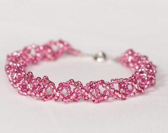 Beautiful Pink Radiant Bracelet