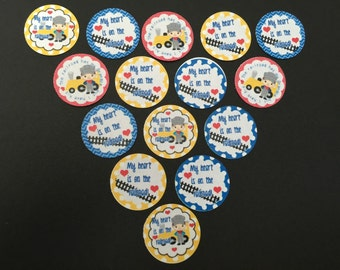 My Heart Is On The Railroad Buttons set a 15