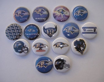 Baltimore Ravens Buttons Set of 15