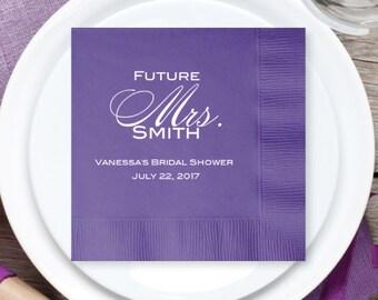 100 pcs Future Mrs Personalized Wedding Napkins