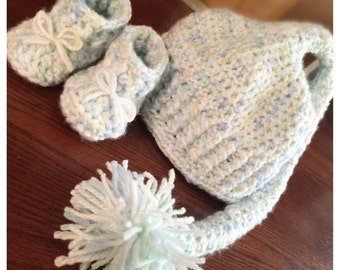 Made to Order - Baby Beanie and Booties Set