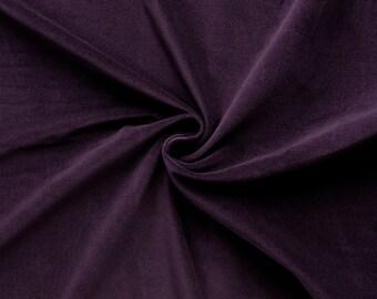 Gem - velvet fabric (plum) cotton - 0, 5m