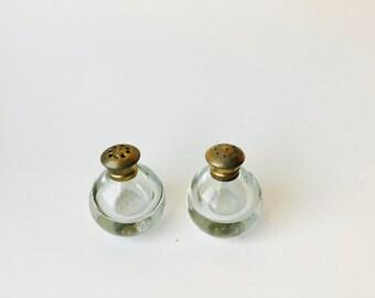 Vintage Irice N.Y. Salt & Pepper Glass Shakers