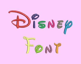 Disney Embroidery Font  - 5 Size Embroidery Designs Monogram Fonts BX  Fonts  ~ INSTANT DOWNLOAD ~ Machine Embroidery Pattern